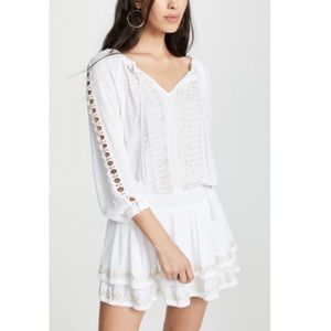 ONDADEMAR WHITE MINI DRESS SIZE SMALL